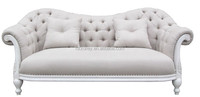 French Style Antique Wooden Sleeper Sofa