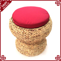 Home Furniture Nature Water Hyacinth Handcraft Mushroom Ottoman Stool