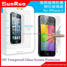 Guangzhou mobile phone accessories clear tempered glass screen protector for iphone5