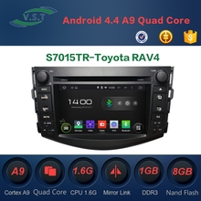 Android 4.4.4 In-car entertainment Car audio stereo system/in car radio/dvd/gps navigation for Toyota RAV4 2012