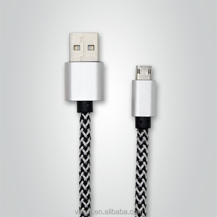 VBEST colorful micro braided usb cable usb 2.0 debug cable usb data cable