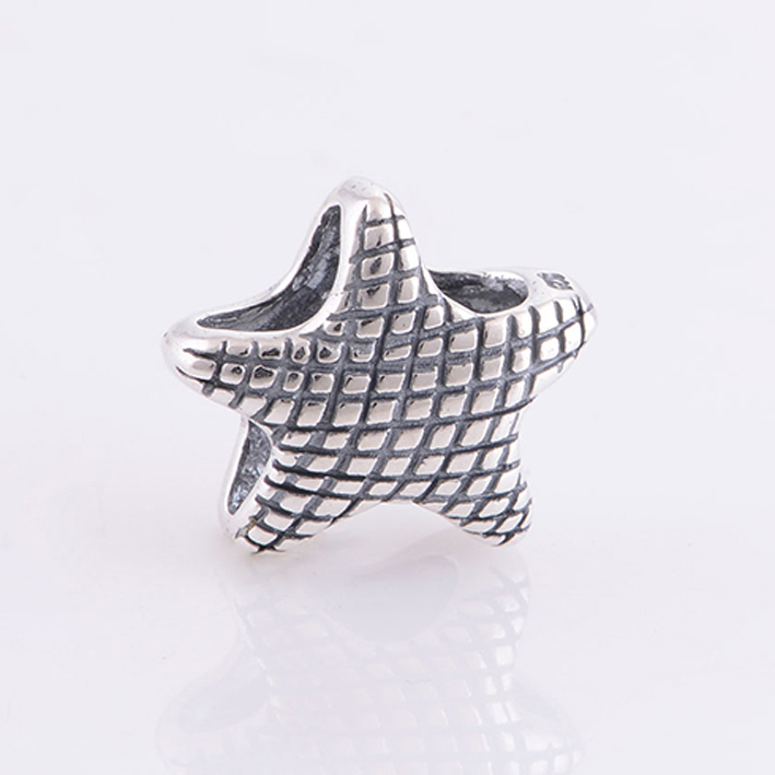 Fits Pandora Charms Bracelet Starfish Charm Bead 925 Sterling Silver Beads Jewelry Making DIY Bracelets Necklaces & Pendants