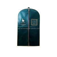 New Design Fashion Non Woven Garment Bag with Small Window Garment Bag Travel