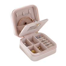 New design gift case unique girls leather jewelry box