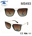 2017 Classical Style Demi Brown Women Metal Sunglasses (MS493)