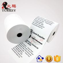 "Thermal paper roll 3 1/8"" x 265' (50 Rolls) 55g 1/2"" plastic core 80 x 80 thermal paper rolls"