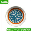 Supermarket 30% melamine promotion tray, 40cm stacable round plastic tray for food serving