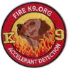 Fire K9.ORG Machine Embroidery Logo Designs Custom Badges Iron on Uniforms Accessories