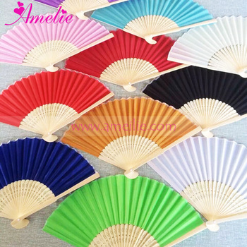 Assorted Mixed Colors Chinese Craft Party Wedding Favors Hand Fan