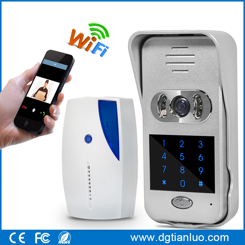 Motion detection wireless video doorbell wifi intercom home security alarm TL-WF02