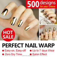 2016 Hot sale nail wrap pure color lace full nail sticker 16pcs nail art decal