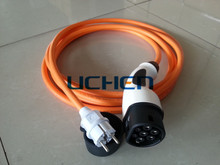 IEC 62196-2 ev car charger plug/ Type 2 16 amp Plugs and Cables/schuko 62196 charging cable