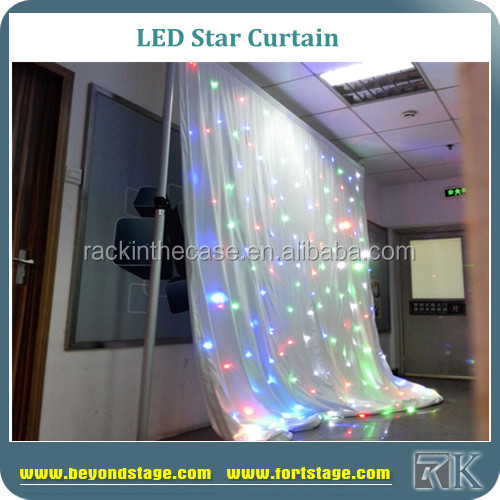 RK led curtain with white lights for banquet wedding backdrop panel/wedding supplies Shenzhen/wedding stage backdrop for sale