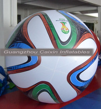 outdoor inflatable helium football flying helium balloon / giant football sphere