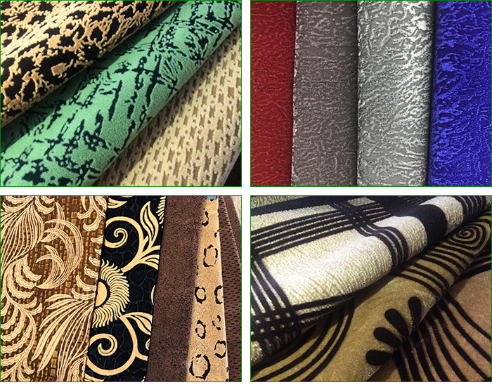 New Design Waterproof Custom Printing Embossed Velvet Flocking Fabric for Sofa Furniture