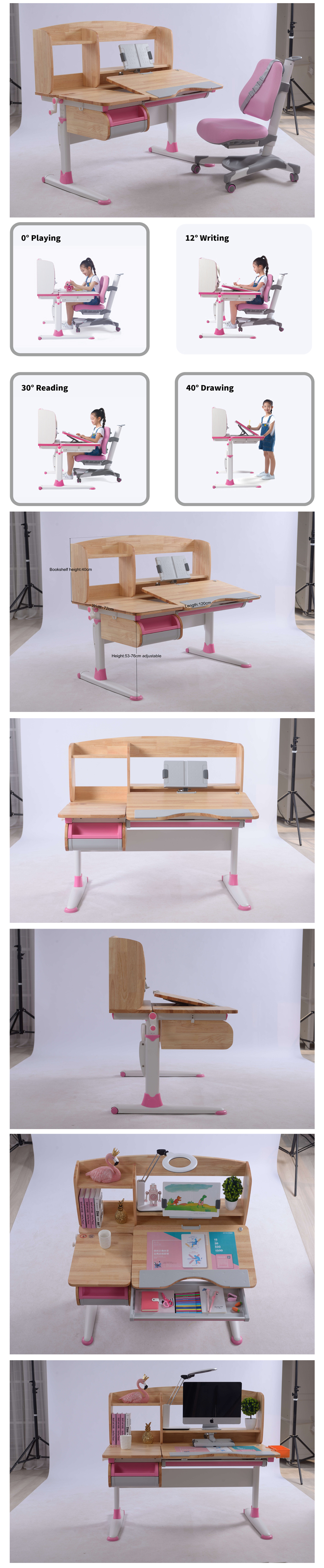 Children Learning Desk Wooden Table For Promotion