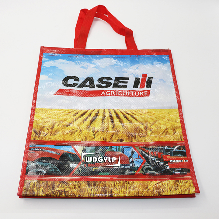 China factory cheap color printed pp woven bag large shopping bag