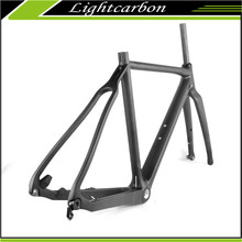 2016 LightCarbon Cyclocross Carbon Frame Disc brake Frame Kit Chinese Factory LCX027-D