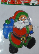 2015 popular wholesale Christmas sticker/Christmas decorations
