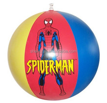 PVC inflatable spiderman beach ball