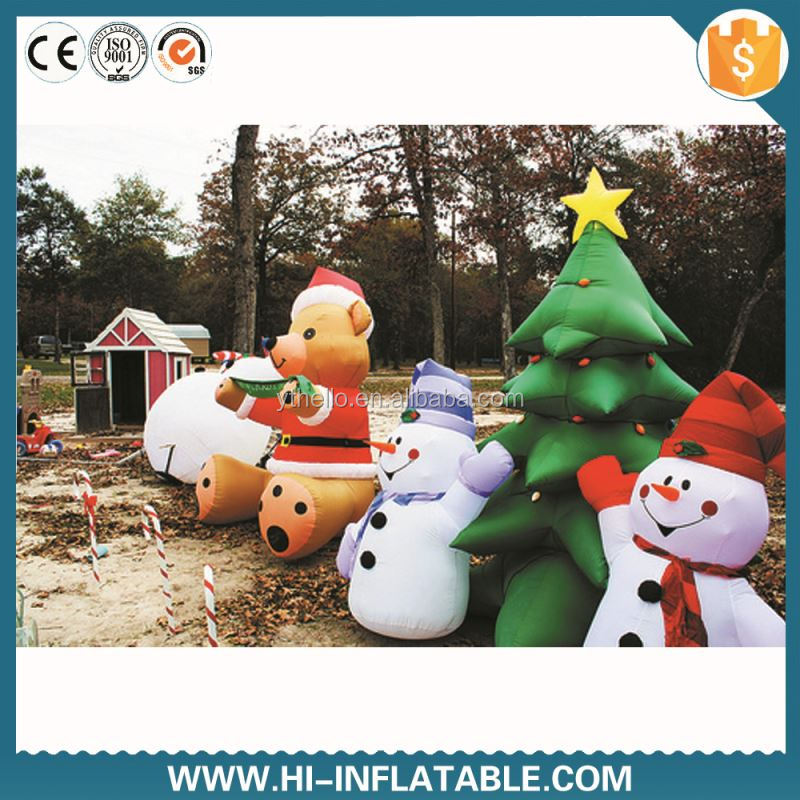 Fabulous Qualified Inflatable Christmas snow tree,inflatable snow man,artificial snow christmas tree