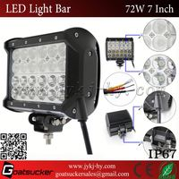 72W 24 LEDS Light Bar with Double Rows 4row 7inch 7'' LED off-road light bar