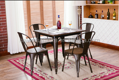 French style gunmetal modern furniture industrial dining table