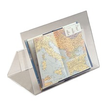 Acrylic Open Book Display Stand Map Holder