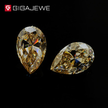 Yellow Loose Moissanite Diamond 5*7mm Excellent Pear Cut Moissanite Gemstone Jewelry