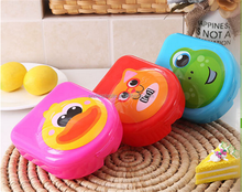 Eco-friendly cute cat animal shape kids plastic lunch box for school