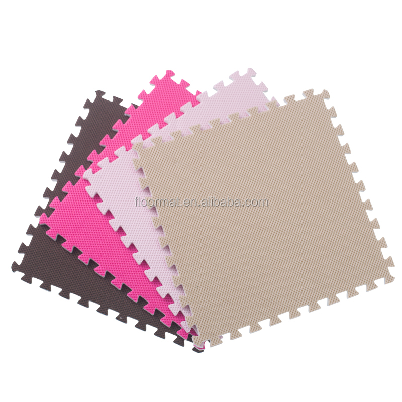 EVA foam environmental Interlocking puzzle mesh pvc floor mat