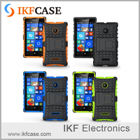 Dual Layer Rugged Kickstand Hybrid Heavy Duty Shockproof Combo Armor Back Cover Case for Microsoft Nokia Lumia 532