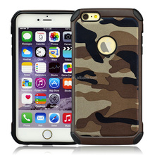 Factory direct selling army colors camouflage hybrid PC TPU mobile phone case for I Phone6s/6 plus