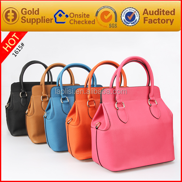 Special promotional cheap PU leather tote bag ladies hand bag 2016