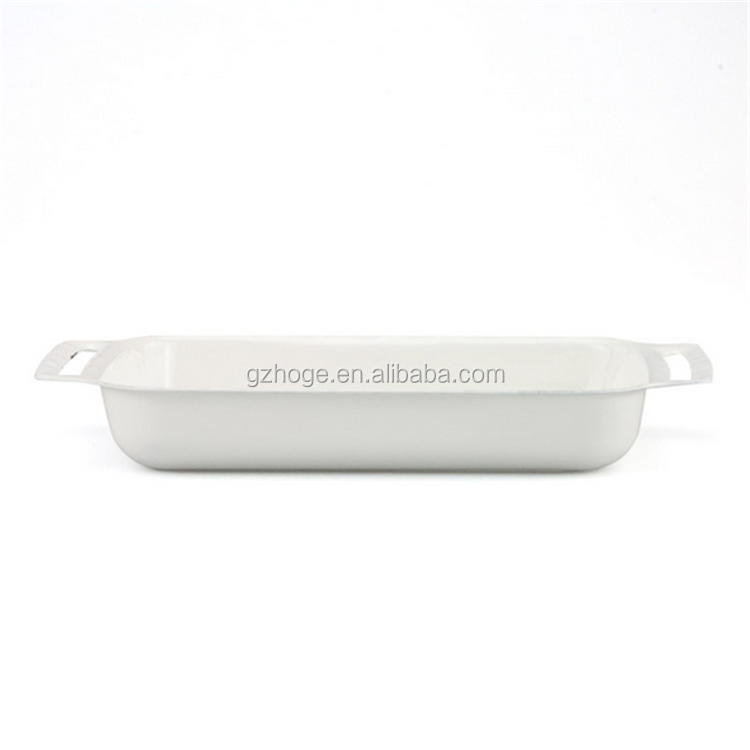 Enamel Kitchen Baking Tray With Sure Grip Handles