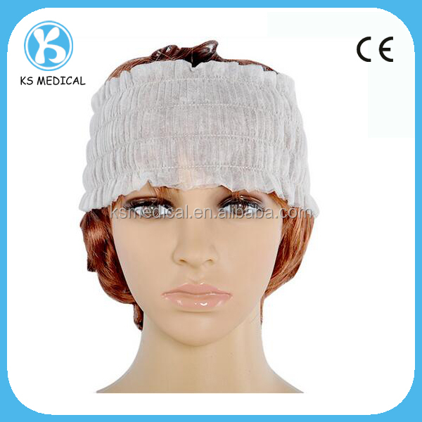 white nonwoven disposable stretch beadband spa head bands
