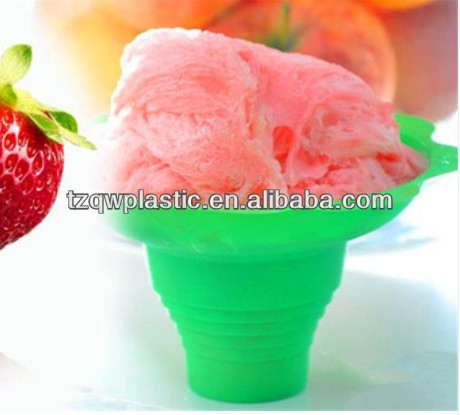 Wholesale Flower shape Plastic ice cream cup,capacity for 8OZ