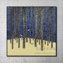 Best sell handpainted tree oil painting, abstract tree canvas painting