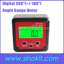 Digital 360'(+/-180')Angle Gauge Meter Protractor Bevel Box Inclinometer with strong disk magnets JY-180SXB(THREE KEYS&C)