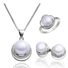 Hot selling jewelry sets copper jewelry engagement pearl wedding jewelry