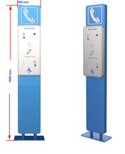 One button Help Point with induction loop and camera optional for airport, bank, metro station