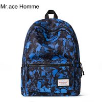Mr.ace Homme printed wholesale backpack manufacturers china