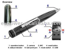 1280*960 Camera Pen -video+audio +PC camera+Removable Disk