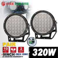 "Factory direct promotion 9"" 320w 4x4 led driving light bars"