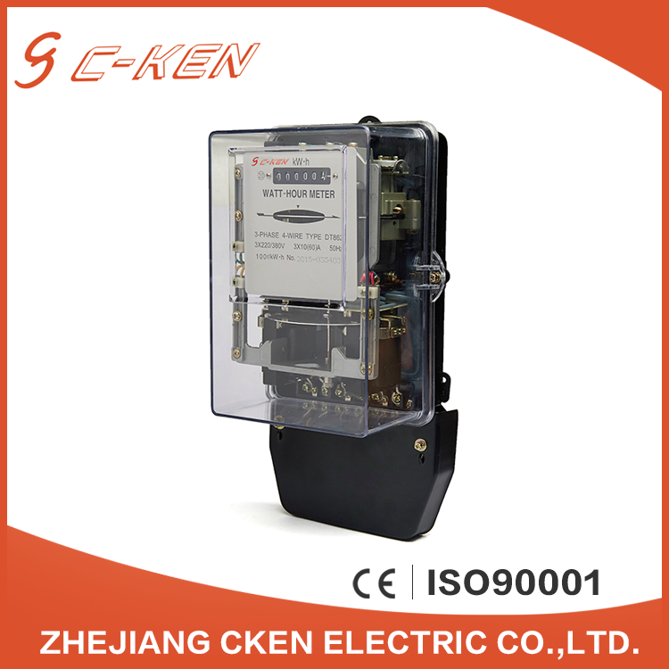 Cken 50Hz Register Three Phase Energy Meter Mechanical Digital Type Kwh Meter , Watt-hour Meter