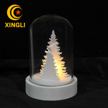 Wholesale glass dome polywood various types available led lighting cover dome night light