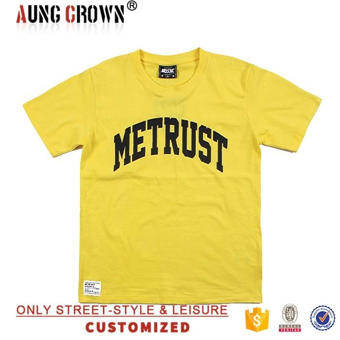 Good quality cotton plain t shirt with custom logo printed for Plain quality t shirts
