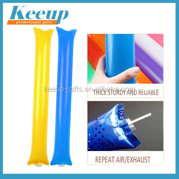 Custom promotional noise maker printed PE inflatable cheering stick/bangbang stick/Thunder stick