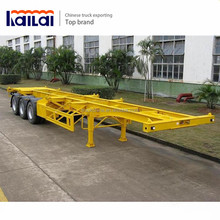 40ft 20ft 3 Axles lowbed semi trailer flatbed trailer container semi trailer for sale
