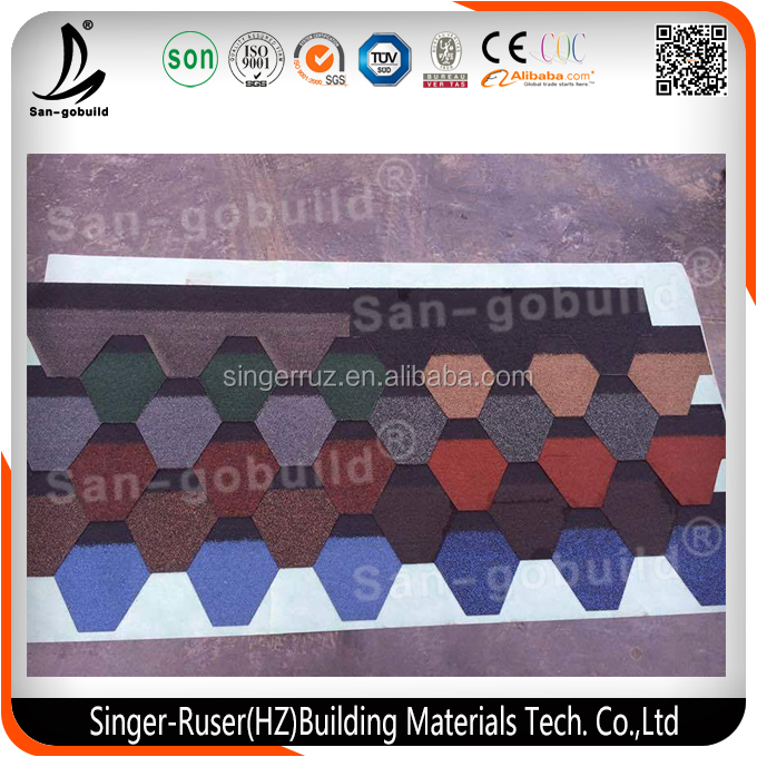 Adhesive Laminated Asphalt Shingles/ Roof Tile Price Hot Sale in Africa/America/India